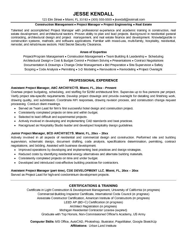 it infrastructure project manager resume samples jobhero