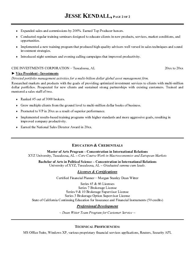 bank president resume - Roberto.mattni.co