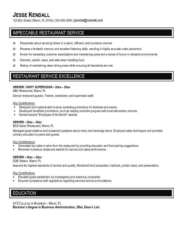 Restaurant Resume sample resume resume cover letter resume examples writing job eluded co sample resume resume cover letter resume examples writing job eluded co Restaurant Service Crew Resume