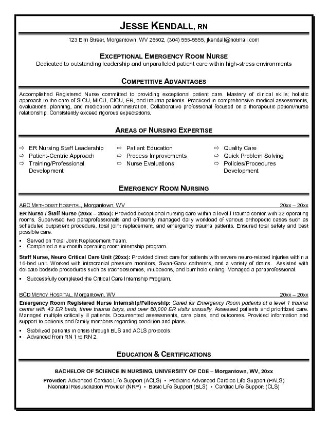 Nursing resume services – Resume Sample for Nurses